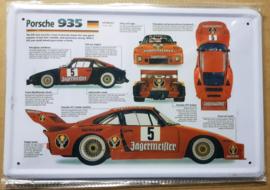 Metaalplaat Porsche 935