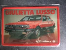Metaalplaat Alfa Romeo Giulietta Lusso