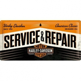 Metaalplaat Harley Davidson Service and repair