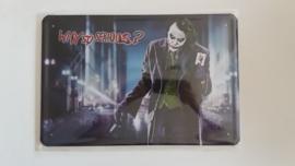 Metaalplaat Batman Joker