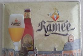 Metaalplaat bier Ramée 30x40cm in reliëf