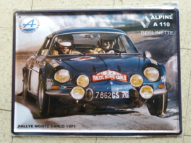 Metaalplaat Renault Alpine A 110 Berlinette