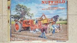 Metaalplaat Nuffield tractors M3 universal