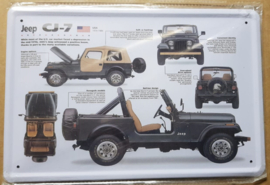 Metaalplaat Jeep CJ-7