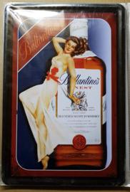 Metaalplaat Whiskey Ballantine's