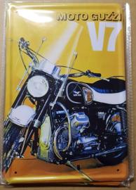 Metaalplaat Guzzi V7