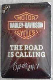 Metaalplaat Harley Davidson 20x30cm in reliëf