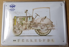 Metaalplaat Hanomag R45