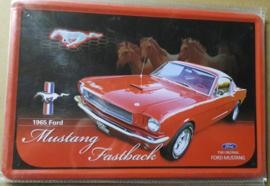 Metaalplaat Ford Mustang Fastback 1965