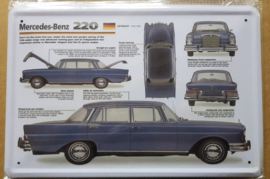 Metaalplaat Mercedes-Benz 220