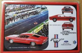 Metaalplaat Ford Mustang Fairlane Torino GT Fastback 1968/Mustang Mach 1 1696