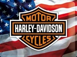 Metaalplaat Harley Davidson