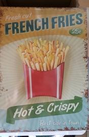 Metaalplaat French Fries