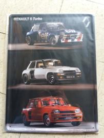 Metaalplaat Renault 5 Turbo