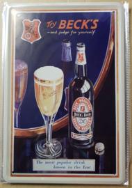 Metaalplaat bier Beck's
