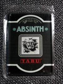 Metaalplaatje Absinth 8 x 11 cm Tabu