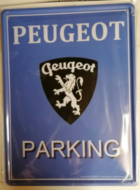 Metaalplaat Peugeot Parking 30x40cm