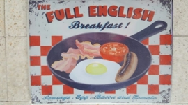 Metaalplaat Full English breakfast