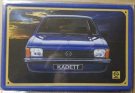 Metaalplaat Opel Kadett