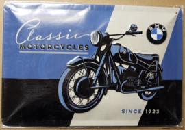Metaalplaat BMW 20 x 30 cm in relief/3D