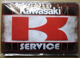 Metaalplaat Kawasaki Service