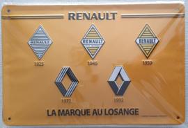 Metaalplaat Renault 20x30cm in reliëf