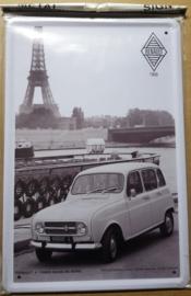 Metaalplaat Renault 4   1959
