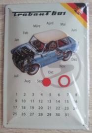 Metaalplaat Trabant 601 (kalender)