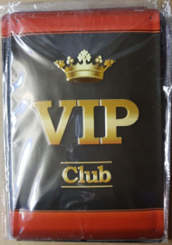 Metaalplaat VIP club 20x30cm in reliëf
