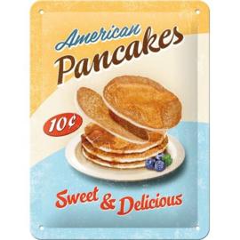 Metaalplaatje American Pancakes