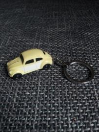 Sleutelhanger VW kever licht geel met ledlichtjes