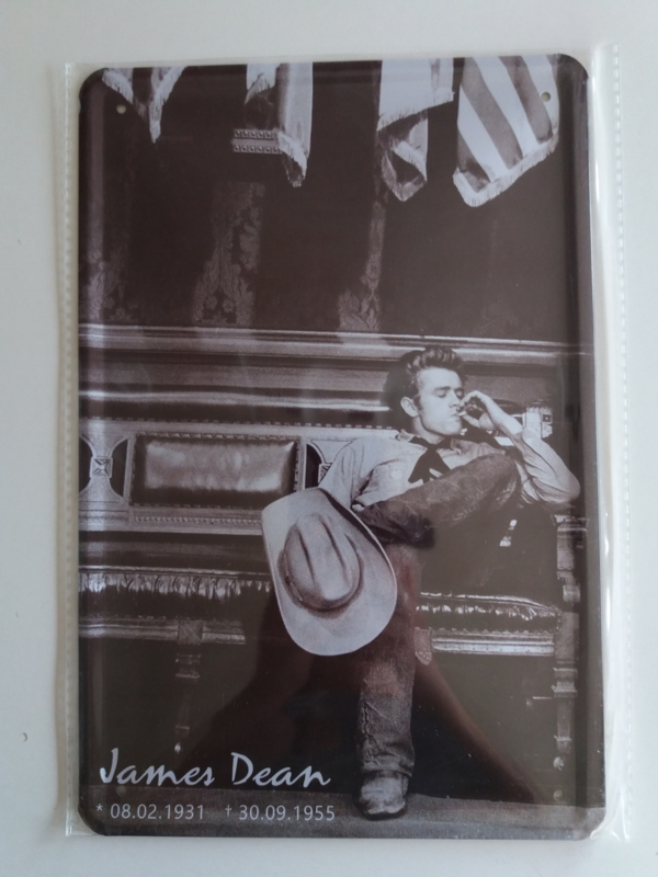 Metaalplaat James Dean
