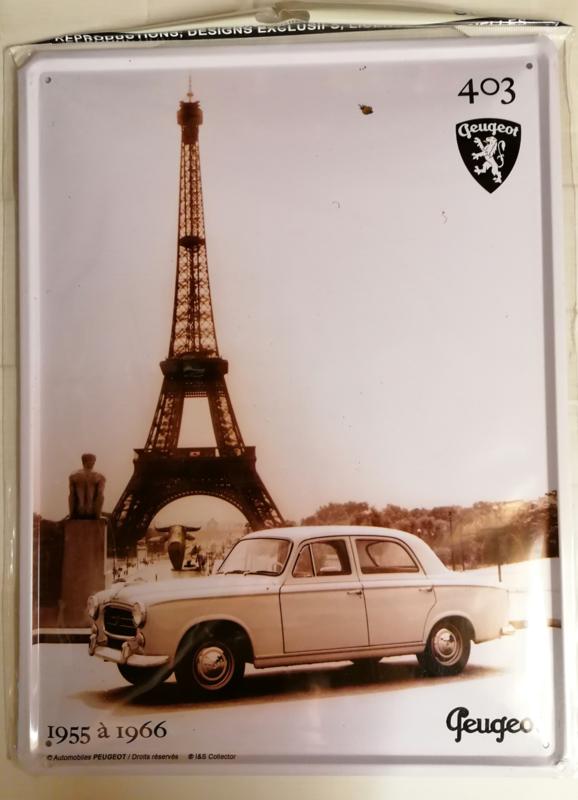 Metaalplaat Peugeot 403  (1955 à 1966)