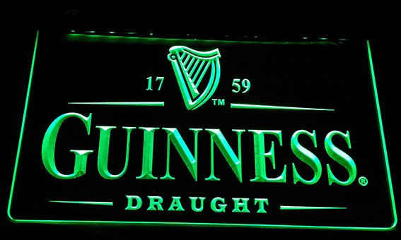 3D ledverlichting Guinness