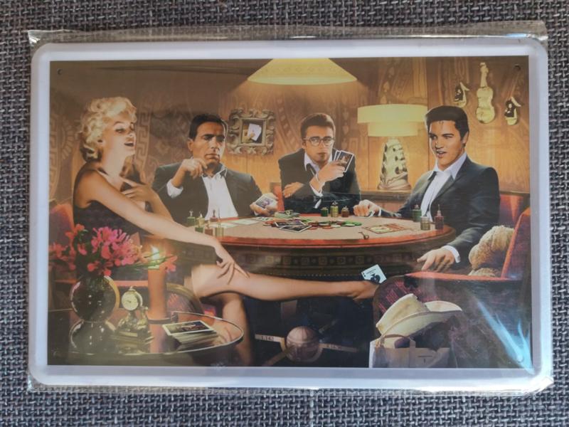 Metaalplaat James Dean/Marilyn Monroe/Elvis