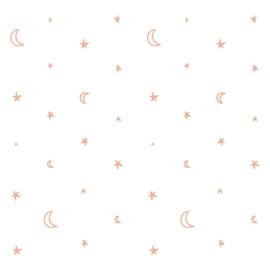 Behang roze sterren