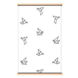 Behang origami birds