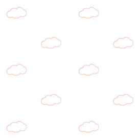 Behang roze wolkjes