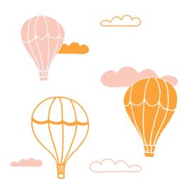 Muursticker - Luchtballon