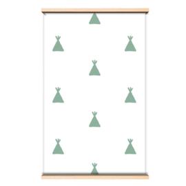 Behang groene tipi's