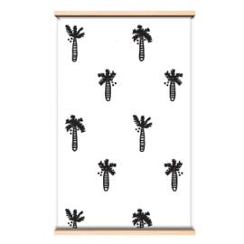 Behang palmboom zwart/wit