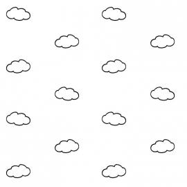 Behang wolkjes