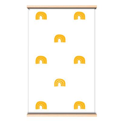 Behang regenboog geel