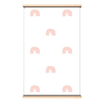 Behang regenboog roze
