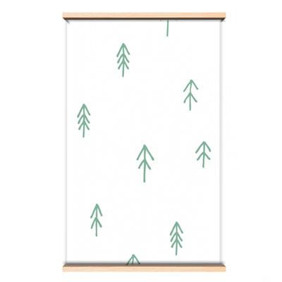 Behang groen bos