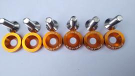 Oranje CNC Motorscherm doppen