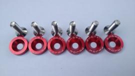 Rode CNC Motorscherm doppen