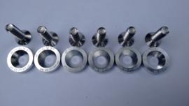 Zilveren CNC Motorscherm doppen