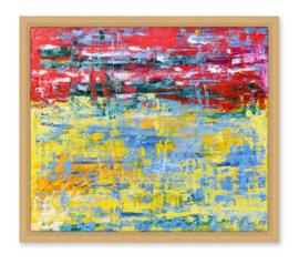 Confetti, abstract van Karin Heystee