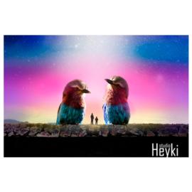 Surrealisme - Vogels - Kleurig - XL